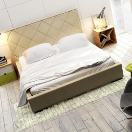 Łóżko QUADDRO CARO NEW DESIGN tapicerowane